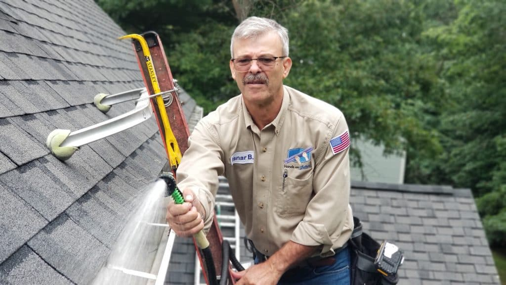 Testing and Washing Gutter